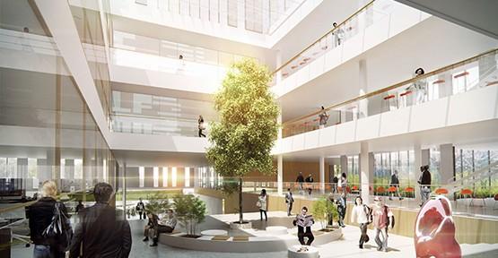 Henning Larsen Architects, ZSW Forschungszentrum für Sonnenenergie und Wasserstoff-Forschung Baden Württemberg, Stuttgart