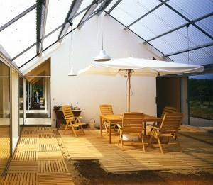 Lacaton & Vassal, Einfamilienhaus, Energiegarten, Saint-Pardouxla- Rivière, Frankreich 1997