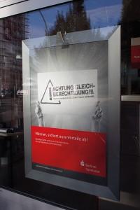 Werbung der Berliner Sparkasse, Berlin 2012; Foto: David Kasparek