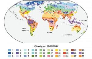 1 Mittlere Verteilung der Klimatypen für den Zeitraum 1901/1994