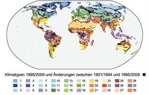 2 Klimatypen und deren Änderungen 1995 / 2009 zu 1901 / 1994