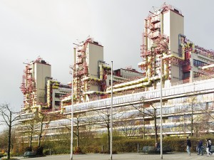 Weber&Brand, Universitätsklinikum, Aachen 1971– 1984 (Unter Denkmalschutz seit 2008); Foto: Sascha Faber