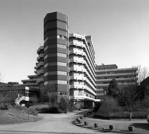 Bernhard Finner mit Walter Henn und Claus Wiechmann, IWZ der FH Köln, 1973–1978; Foto: D. Heiermann