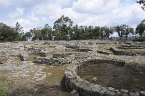 Stufen der Erinnerung: Konservierung. Cividade de Terroso, Blick über die Ausgrabung (1907) der keltischen Siedlung aus dem 9. Jh. v. Chr.; Foto: Joseolgan