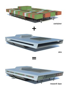 bof architekten, Antarktisstation Bharati, Antarktis 2011–2012, Struktur