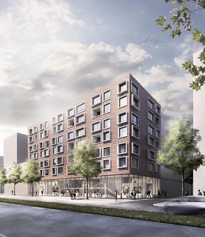 bof architekten, GreenBeltBrick, Hamburg 2012–2014, Perspektive