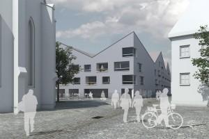 nbundm* architekten, Betreutes Wohnen, Wettbewerb, Amberg 2010