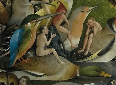Hieronymus Bosch, Der Garten der Lüste, Triptychon, Detail, ca. 1503/1504