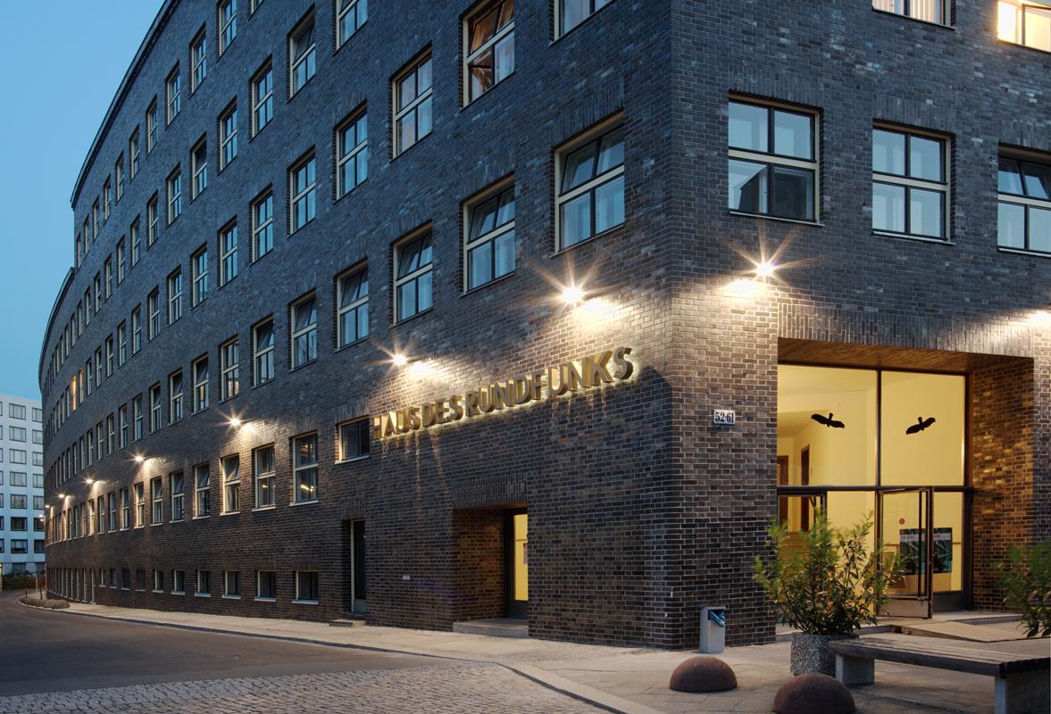 Hans Poelzig, Haus des Rundfunks, Berlin 1927-1931, Fassadensanierung: Bräunlin + Kolb Architekten Ingenieure, 2010-2013, Foto: Barbara Schmidt