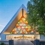 Shigeru Ban, Pappe-Kirche, Christchurch, Neuseeland 2013, Foto: Stephen Goodenough