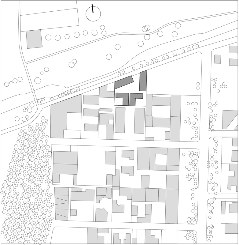 nic 14-2_KNOWSPACE, Atelier-Häuser, Songzhuang, China 2011–2013, Lageplan