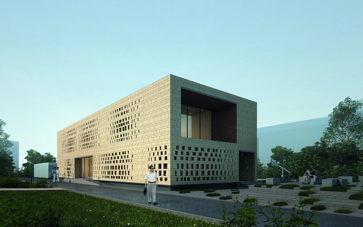 nic 14-2_KNOWSPACE, CHEGS-Campus, Mitarbeiterkantine und Freizeitraum, Baoding, China 2012–2014, Abb.: KNOWSPACE