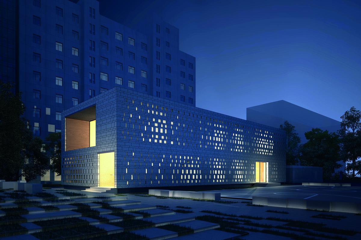 KNOWSPACE, CHEGS-Campus, Mitarbeiterkantine und Freizeitraum, Baoding, China 2012–2014, Abb.: KNOWSPACE
