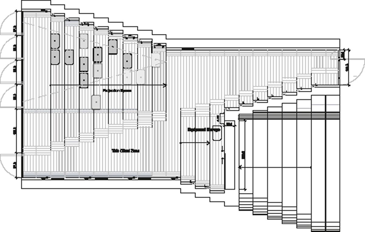 nic 14-2_KNOWSPACE, Multimedia-Pavillon, Jinhua Architecture Park, Jinhua, China 2004–2007, Grundriss