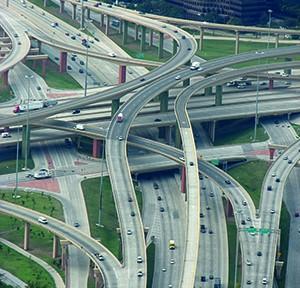 High Five, I-635 und US Route 75 in Dallas, Texas, Foto austrini, cc-by-2_0