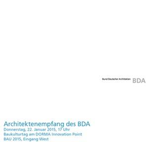 Einladungskarte BDA-Empfang