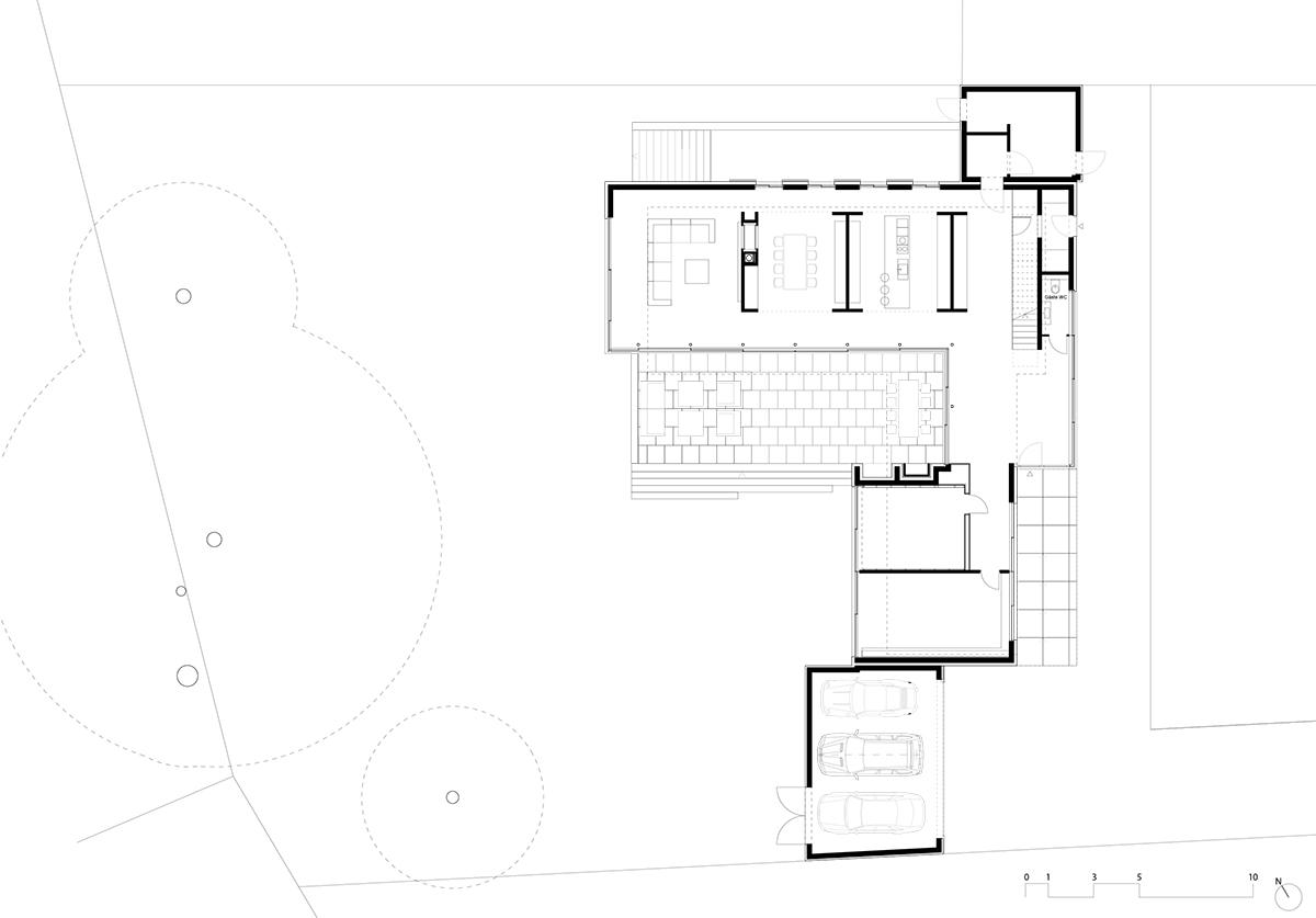 Geitner Architekten BDA Haus B Dusseldorf 2012 Grundriss EG