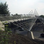 Frei Otto, Brücke in das Naturschutzgebiet Mechtenberg, 2002, Foto: Atelier Frei Otto Warmbronn