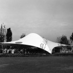 Frei Otto, Bundesgartenschau 1957, Eingangshalle, Köln 1957, Foto: Atelier Frei Otto Warmbronn