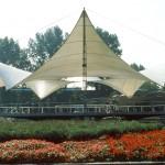 Frei Otto, Bundesgartenschau 1957, Tanzbrunnen, Köln 1957, Foto: Atelier Frei Otto Warmbronn