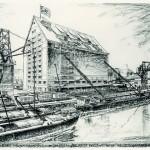 Getreidespeicher am Alberner Hafen, Wien, 1938, Abb.: Architekturzentrum Wien, Sammlung