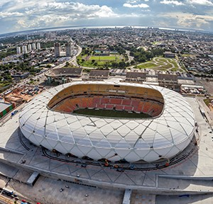 Manaus aerea arenaamazonia, Foto: Governo do Brasil, Portal da Copa, Licensed under CC BY 3, via Wikimedia Commons