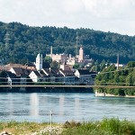 IB Miebach, Rheinsteg Rheinfelden, 1. Preis Projektwettbewerb, Perspektive Rheinsteg von NO