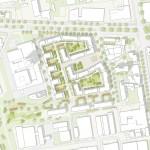 Astoc Architects and Planners, 1. Preis, Architektenwettbewerb Areal Deutsche Welle, Raderberggürtel, Köln Marienburg, Lageplan
