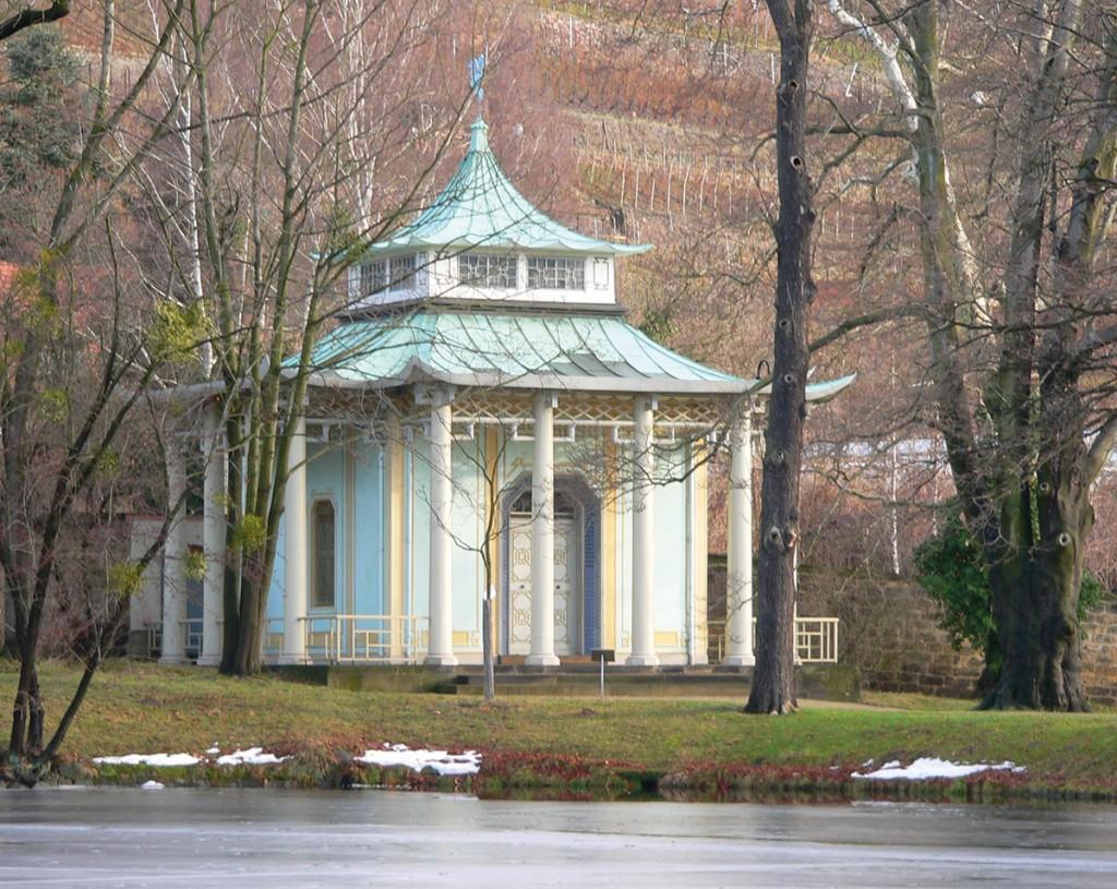 Christian Friedrich Schuricht, Chinesischer Pavillon, Schloss Pillnitz (1804), Foto: Linear77 (CC BY 3.0 via wikimedia)