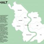 Seiten aus: Architekturführer Köln. 103 Zeitgenössische und Moderne Bauten und Quartiere
