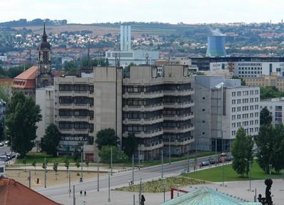 Dresden, ehemaliges Fernmeldeamt, Foto: Kolossos via Wikimedia, CC-BY-SA-3.0-2.5-2.0-1.0