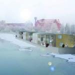 Seiten aus: Refugees Welcome. Konzepte für eine menschenwürdige Architektur, 2015, Constantin Tibor Bruns: Floating Houses.