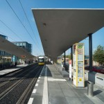 Gruber + Popp Architekten, Tramhaltestelle am Hauptbahnhof Berlin, 2015, Foto: Hanns Joosten