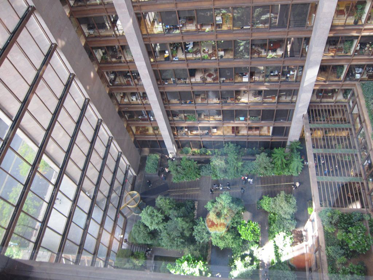 Kevin Roche und John Dinkeloo, Ford Foundation, New York, USA 1963-1968, Foto: D_M_D (via flickr.com / CC BY-SA 2.0)