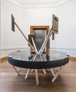 """VON M, Ausstellung """"Krieg der Geister"""", Neues Museum Weimar, Weimar 2014, Foto: Dennis Mueller"""