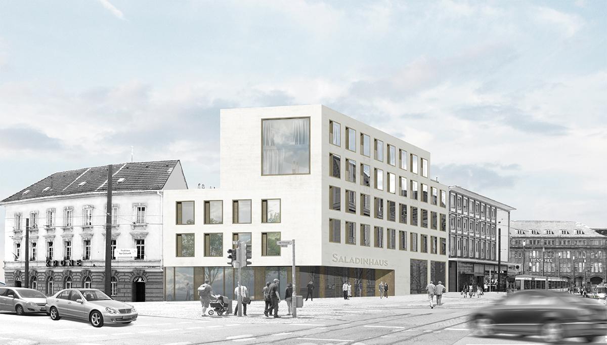 studioinges, Saladin-Eck, Darmstadt 2015 ff., Rendering, Abb.: studioinges