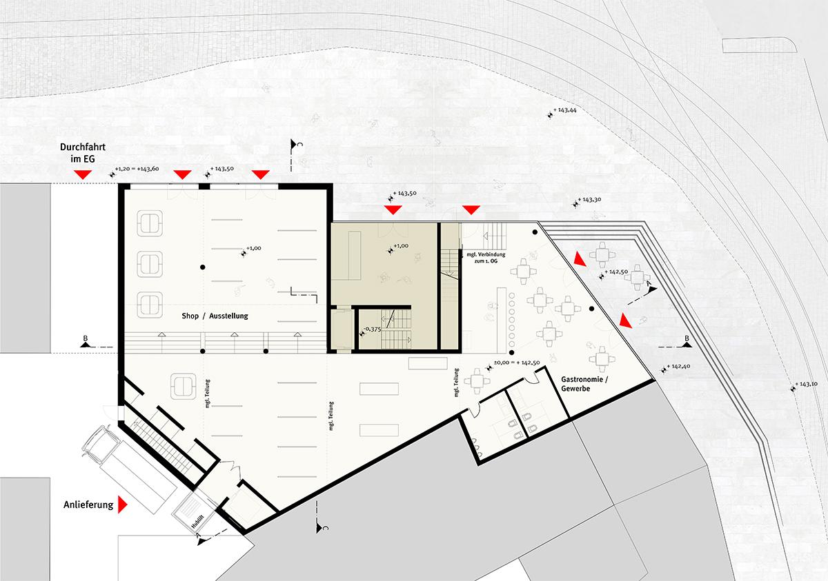 studioinges, Saladin-Eck, Darmstadt 2015 ff., Grundriss EG, Abb.: studioinges