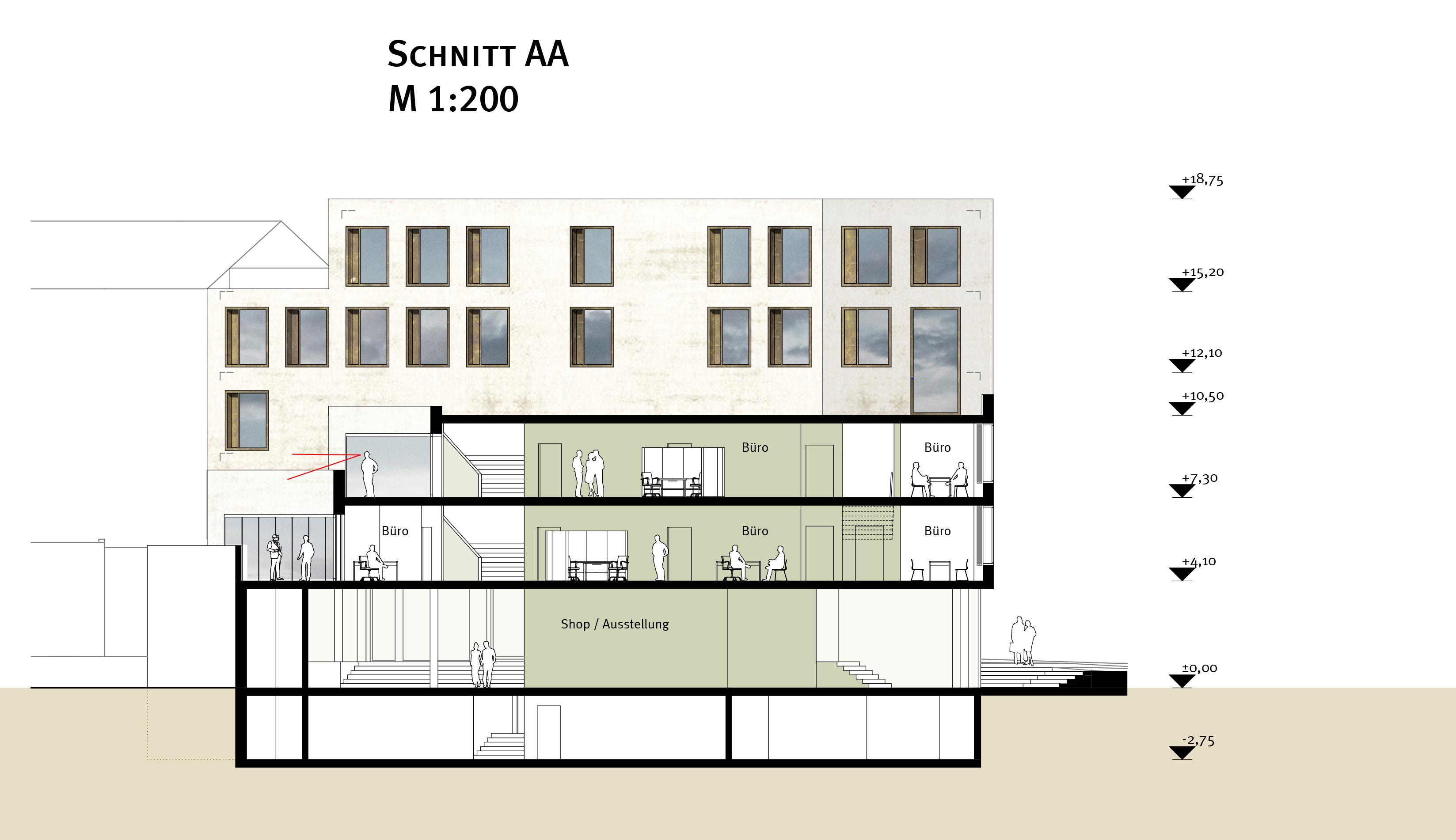 studioinges, Saladin-Eck, Darmstadt 2015 ff., Schnitt AA, Abb.: studioinges