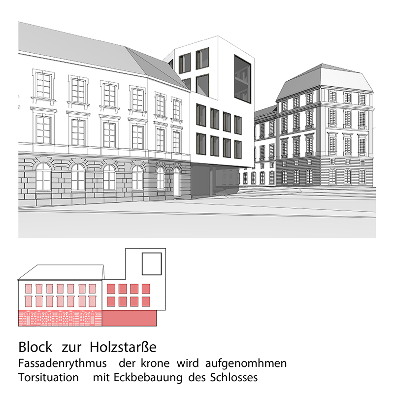 studioinges, Saladin-Eck, Darmstadt 2015 ff., Ansicht Holzstraße, Abb.: studioinges