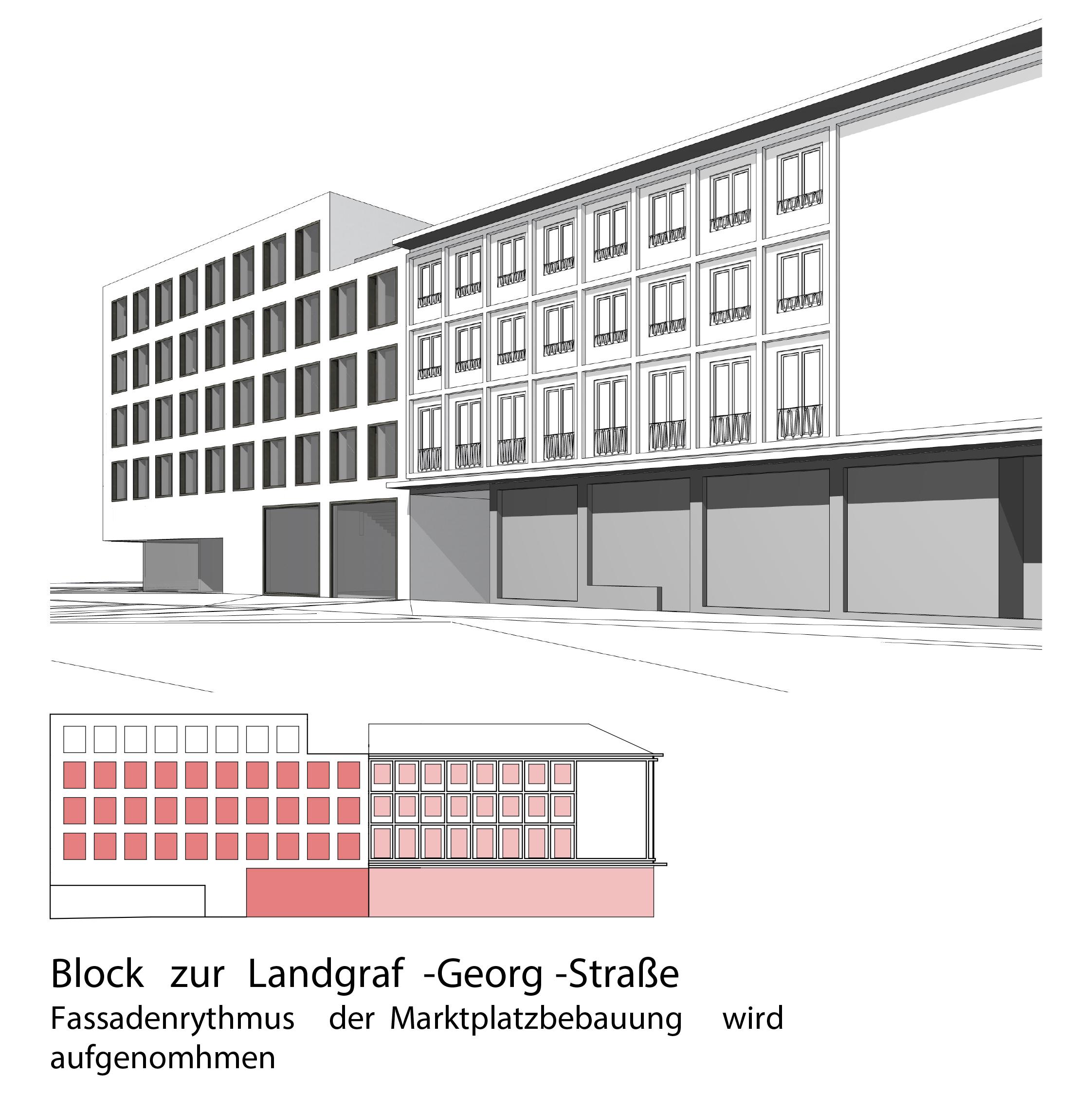 studioinges, Saladin-Eck, Darmstadt 2015 ff., Ansicht Marktplatz, Abb.: studioinges