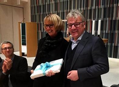 Susanne Crayen zwischen Frank Lohse und Peter Berner (rechts)