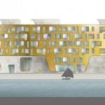 schneider+schumacher und bb22 Architekten, DOXX, Mainz, Hafenkai, Wettbewerb 2015, Ansicht