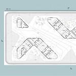 schneider+schumacher und bb22 Architekten, DOXX, Mainz, Hafenkai, Wettbewerb 2015, Grundriss EG