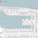 schneider+schumacher und bb22 Architekten, DOXX, Mainz, Hafenkai, Wettbewerb 2015, Lageplan