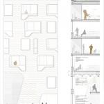 schneider+schumacher und bb22 Architekten, DOXX, Mainz, Hafenkai, Wettbewerb 2015, Schnitt