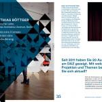 Jeannette Merker und Riklef Rambow (Hrsg.): Architektur als Exponat. Gespräche über das Ausstellen, S. 34-35, Interview mit Matthias Böttger, künstlerischer Leiter des Deutschen Architektur Zentrums DAZ in Berlin