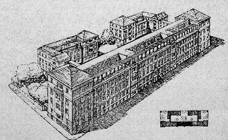 Otto Polak-Hellwig, Heimhof, Wien, ca. 1921, Foto: Allgemeine Bauzeitung, Wikimedia