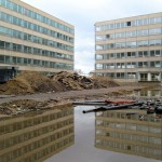 Atriumgebäude I während der Abbruchmaßnahmen