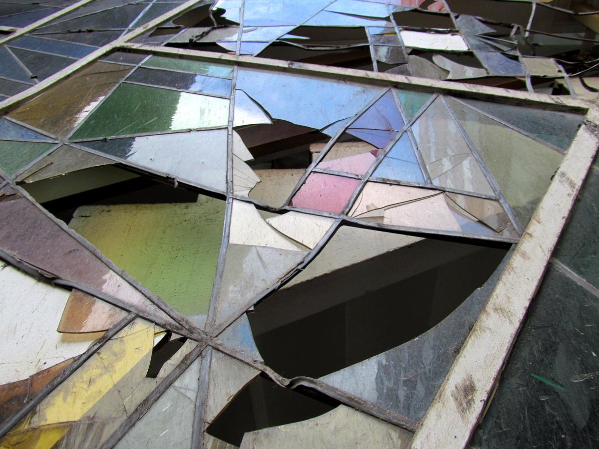 Bleiglasfenster, nördlicher Hof des Atriumgebäudes I