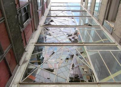 Robotron, Bleiglasfenster, Nordseite